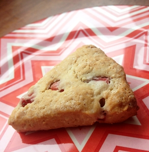 Supernatural Strawberry Scones Gluten-free, low sugar, vegan, and delicious! BellyHappyBlog
